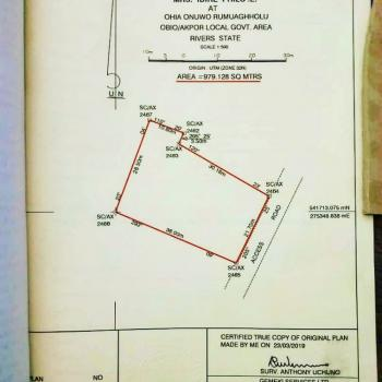 2 & Half Plots of Land Covering About 979sqm, Off Sars Road, Behind Suntaal Filling Station, Rumuahalu, Port Harcourt, Rivers, Mixed-use Land for Sale