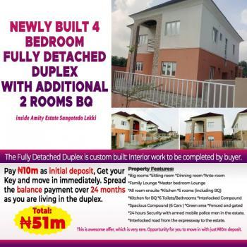 New Built 4 Bedroom Fully Detached Duplex + 2 Bq, Sangotedo, Ajah, Lagos, Detached Duplex for Sale