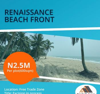 Estate Land, After Refinery and Sea Port,renaissance Beach Front, Eleko, Ibeju Lekki, Lagos, Residential Land for Sale