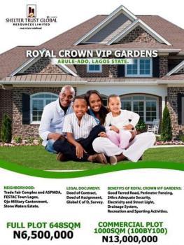 Land, Royal Crown Vip Gardens, Festac, Amuwo Odofin, Lagos, Land for Sale