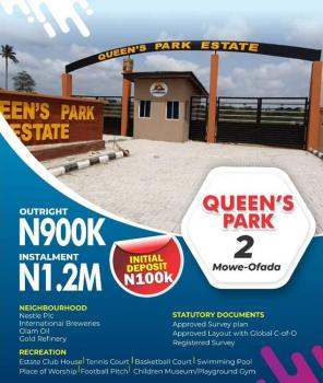 Luxury Land Space, Queens Park Estate, Mowe Ofada, Ogun, Residential Land for Sale