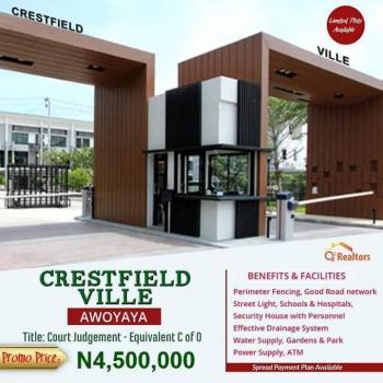 Land in a Strategic Location, Crestfield Ville Estate, Awoyaya, Ibeju Lekki, Lagos, Residential Land for Sale