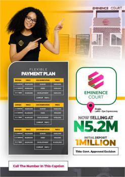 Land, Eminence Court, Bogije, Abijo, Lekki, Lagos, Mixed-use Land for Sale
