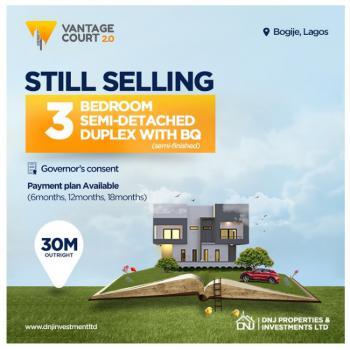 Classic 3 Bedrooms Semi  Detached Terrace Duplex in Serene Estate, Richland Gardens, Bogije, Ibeju Lekki, Lagos, Detached Bungalow for Sale