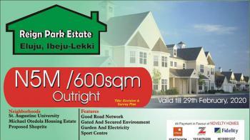 Good Titled  Land in Topnotch Estate, Reign Park Estate Eluju Lekki Epe Express, Eluju, Ibeju Lekki, Lagos, Residential Land for Sale