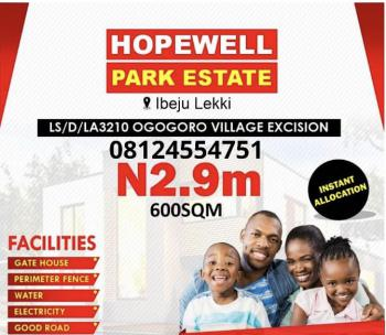 Excision Land, 100% Dry Land with Excision in The Neighbourhood of Lagos Free Zone, Ibeju Lekki, Lagos, Residential Land for Sale