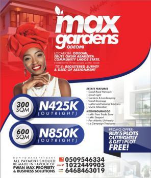 Plots of Land, Odeomi, Ebute Okun Abaketa Community. Promo Buy 5 Get 1 Free, Ibeju Lekki, Lagos, Mixed-use Land for Sale