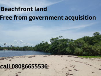 Waterfront Land, Dry Land Facing The Beach 3 Minutes From La Campagne Tropicana Resort, Ibeju Lekki, Lagos, Residential Land for Sale