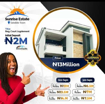 Sunrise Estate, Satellite Town, Festac Lagos State, Festac, Amuwo Odofin, Lagos, Residential Land for Sale