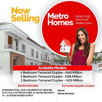 Affordable Tastefully Finished 3 Bedroom Terrace, Off Lekki-epe Expressway Along Lekki Gardens Phase 2 Road, Ajah, Lagos, Terraced Bungalow for Sale