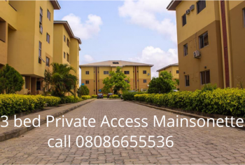 3 Bedroom Private Access Maisonette Apartments, Abijo, Lekki, Lagos, Block of Flats for Sale