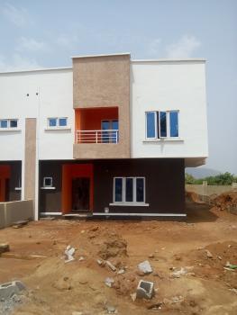 a Brand New 4 Bedrooms Semi-detached Carcass Duplex with 1 Room Bq, Life Camp District, Gwarinpa, Abuja, Semi-detached Duplex for Sale