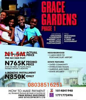 Dry Land, Omuanwa Community Ikwerre L.ga,rivers State, Port Harcourt, Rivers, Mixed-use Land for Sale