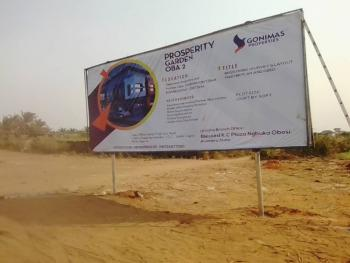 Premium Land in Lovely Estate, Prosperity Garden Estate Oba, Idemili, Anambra, Mixed-use Land for Sale