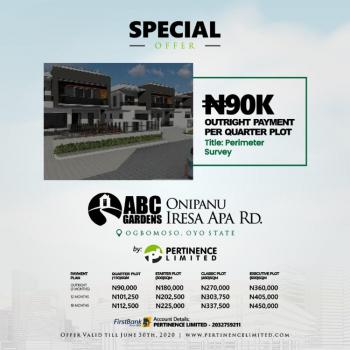 Become a Landlord in Our Special Price Slash Offer, Onipanu, Iresa Apa Road, Ogbomosho North, Oyo, Residential Land for Sale