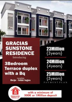 3bedroom Teracce Duplex with a Room Bq, 2minutes Drive From Dangote Refinery, Iberekodo, Ibeju Lekki, Lagos, Terraced Duplex for Sale