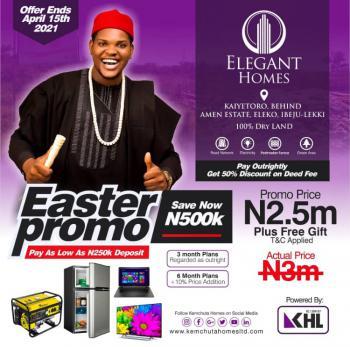 Elegant Homes, Kaiyetoro Town, Lekki-epe Expressway, Eleko, Ibeju Lekki, Lagos, Residential Land for Sale