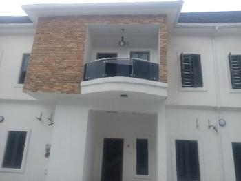 Service 4 Bedrooms Terrace Duplex, Conservative By Chevron Toll Gate, Lafiaji, Lekki, Lagos, Terraced Duplex for Rent