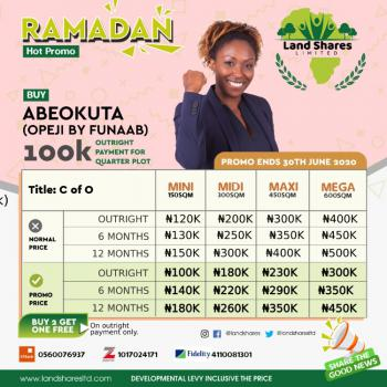 Buy 2 Plots and Get 1 Plot Free, Federal University of Agriculture, Abeokuta North, Ogun, Land for Sale