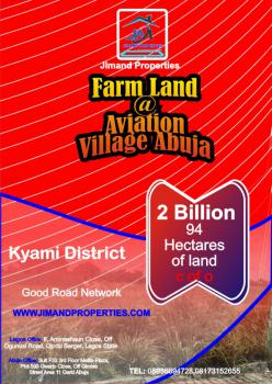 94 Hectares for Agriculture., Kyami, Abuja, Commercial Land for Sale