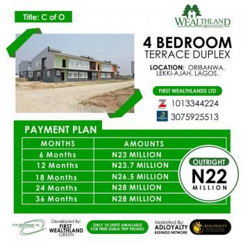 Wealthland Green Estate Installmental Payment, Oribanwa, By Davinchi Lekki-ajah, Lagos, Oribanwa, Ibeju Lekki, Lagos, Terraced Duplex for Sale