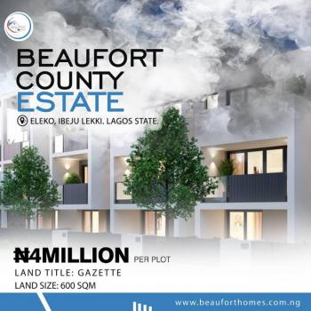 Lands in a Cozy and Friendly Environment, Eleko, Ibeju Lekki, Lagos, Residential Land for Sale