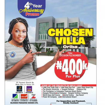 Affordable Dry Land, The Chosen Villa Few Minutes Away From Lekki Airport, Ibeju Lekki, Lagos, Residential Land for Sale