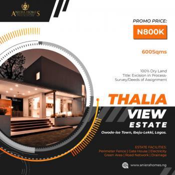 Affordable Land, Owode-ise,  Thalia View Estate, Folu Ise, Ibeju Lekki, Lagos, Mixed-use Land for Sale