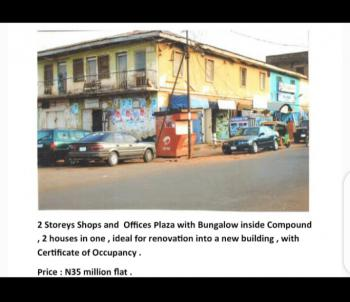 One Storey Block of Shops and Houses with Bungalow., Leventis Area of Central Market, Ibadan Streat., Kaduna South, Kaduna, Plaza / Complex / Mall for Sale