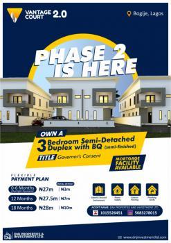 Luxury 3 Bedroom Semi-detached Terraced with Bq, Richland Estate, Bogije, Ibeju Lekki, Lagos, Terraced Duplex for Sale