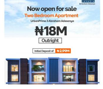 Own a Beautifully Finished 2 Bedroom Apartment, Off Abraham Adesanya, Urban Prime 2 Estate., Ogombo, Ajah, Lagos, Block of Flats for Sale