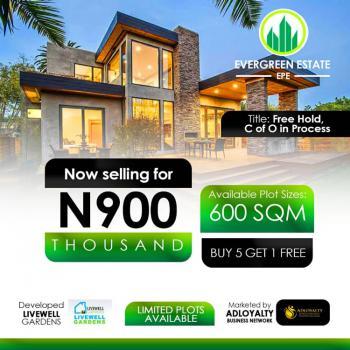 Buy 5 Plots Get 1 Plot Free (buy & Build Estate), Evergreen Estate, Odo-egiri, Epe, Lagos, Residential Land for Sale