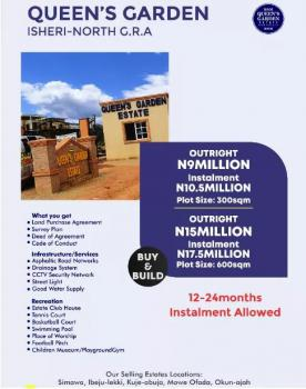 Queens Garden., Opic, Isheri North, Lagos, Mixed-use Land for Sale