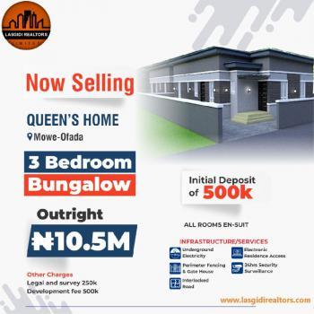 3 Bedroom Bungalow, Mowe Ofada, Ogun, Detached Bungalow for Sale