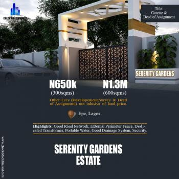 Serenity Gardens Estate, Besides Epe Resorts and Spa, Epe, Lagos, Land for Sale