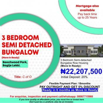 Beechwood Park, Bogije, Ibeju Lekki, Lagos, Semi-detached Bungalow for Sale