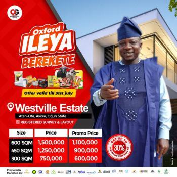 Affordable Land, Westville Estate, Akore, Atan Ota, Ado-odo/ota, Ogun, Residential Land for Sale