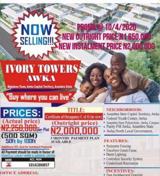 Classic Land Inside Prime Location, Ivory Towers Estate Awka, Awka, Anambra, Mixed-use Land for Sale