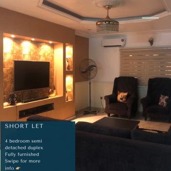 4 Bedroom Semi- Detached Duplex Fully Furnished, Farm Road, Eliozu, Port Harcourt, Rivers, Semi-detached Duplex Short Let