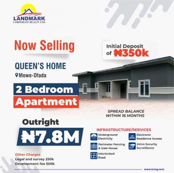 2 Bedroom Apartment, Queens Home Apartments Mowe Ofada, Mowe Ofada, Ogun, House for Sale