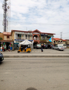 a Spacious Up Stairs Shop in a Busy Area Facing The Road Side, Mega Waves Plaza, Very Close to Ado Roundabout, Ado Road, Ajah, Lagos, Shop for Rent