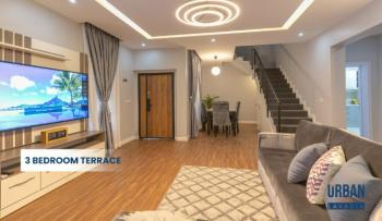 Classy 3 Bedroom Terrace with a Bq, Urban Prime Lavadia Estate, Ogombo, Lekki Expressway, Lekki, Lagos, Terraced Duplex for Sale