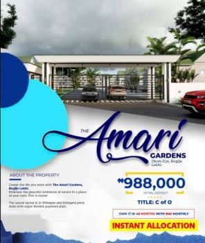 Amaris Garden. World Class Estate with High Affordability., Okun-oje, Bogije About 100metres Off Lekki-epe Expressway., Badore, Ibeju Lekki, Lagos, Residential Land for Sale