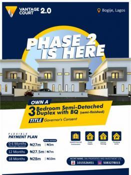 3 Bedroom Semi Detached Duplex, Inside Richland Estate, Bogije, Ibeju Lekki, Lagos, Semi-detached Duplex for Sale