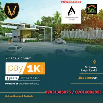 Own a Plot of Dry Estate Land with 1k Daily for 3 Years, Victory Court Estate, Siriwon Town, Siriwon Town, Ibeju Lekki, Lagos, Residential Land for Sale