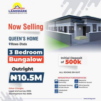 3 Bedroom Bungalow, Queens Gardens Estate, Mowe Ofada, Ogun, Semi-detached Bungalow for Sale