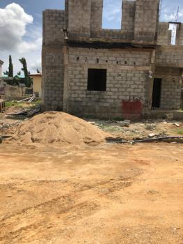 4 Bedroom Fully Detached Duplex Carcass in an Estate, Behind Kilimanjaro Eatery, Kubwa, Abuja, Detached Duplex for Sale