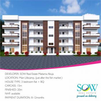 Luxury 3 Bedroom Block of Flats with 1 Bq. (off Plan), Life Camp, Gwarinpa, Abuja, Flat for Sale