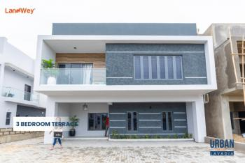 Smart & Luxury 3 Bedroom Terraced Duplex with Smart Facilities with Bq, Behind Abraham Adesanya Estate, Before Lagos Business School, Lekki, Lagos, Terraced Duplex for Sale