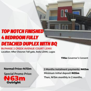 Top Notch Finished 4 Bedroom Fully Detached Duplex with Bq, Creeek Avenue 2, After Chevron Toll Gate, Ikota, Lekki, Lagos, Detached Duplex for Sale